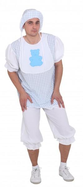 Baby Boy, hellblau (Oberteil, Hose und Mütze) - Größe: 46/48 - 54/56