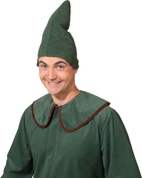 Faschingshut Kobold-Mütze grün, und rot