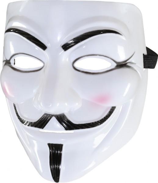Vendetta Maske mit Bart