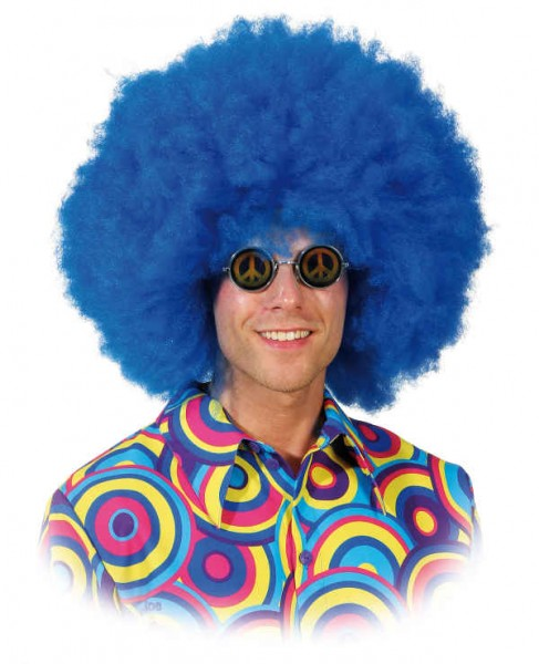 Perücke Seventies Boy, blau
