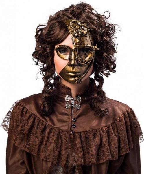 Steampunk Halbmaske, bronze