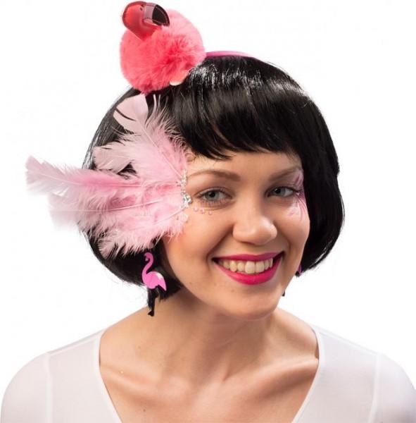 Haarreif Plüsch Flamingo