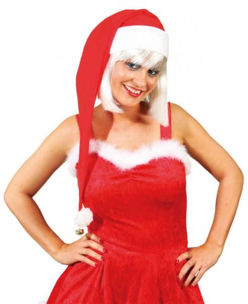 Faschingszubehör: Weihnachtmannmütze, 90 cm lang