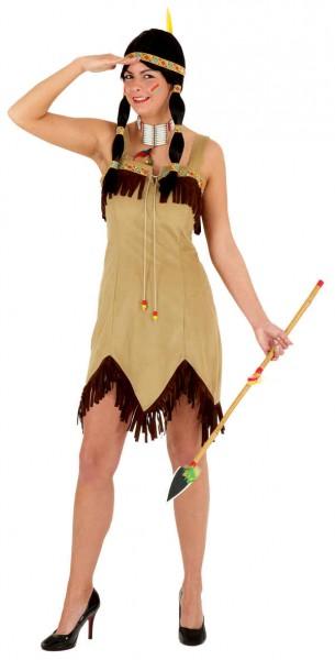 Sexy Indianerin, beige (Kleid) - Größe: 36 - 42