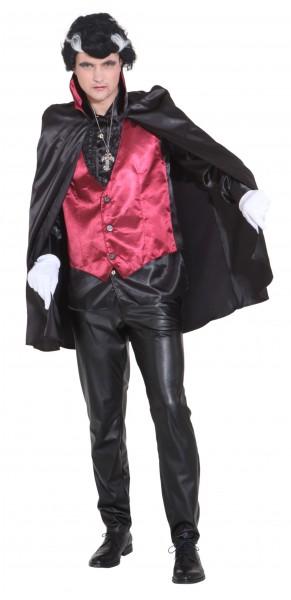 Umhang und Weste Vampir - Größe: 46/48 - 58/60