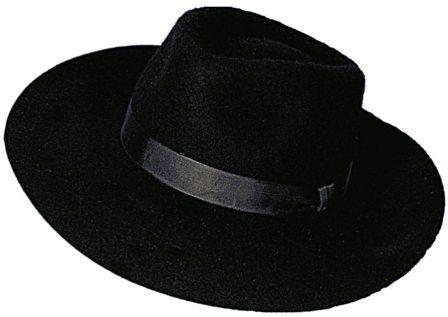 Faschingshut Herren Bogart schwarz - Wollfilz