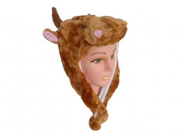 Tiermütze Plüsch Mütze Kuh Rind