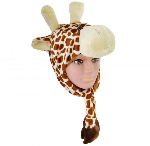 Tiermütze Plüsch Mütze Giraffe
