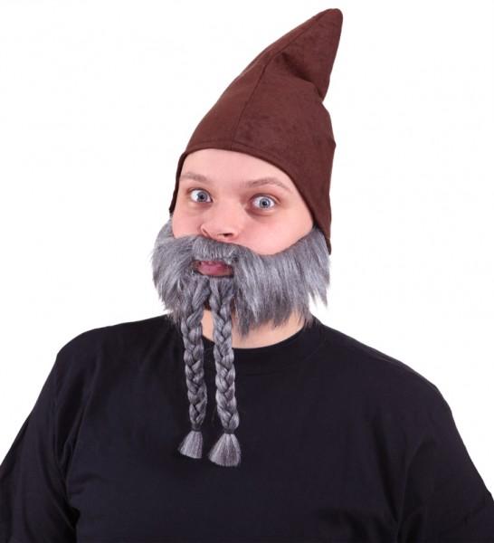 Bart, grau mit Zöpfen
