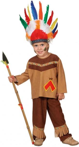 Indianer Junge (Oberteil, Hose) - Größe: 104 - 152