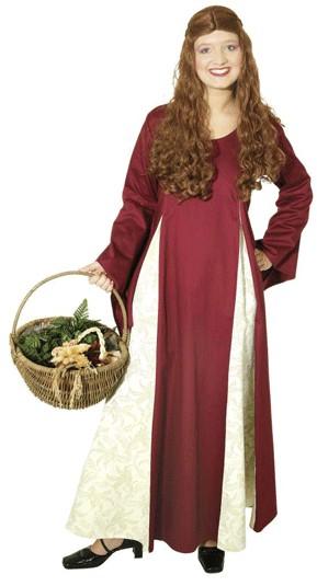 Faschingskostüm Magdalena - Kleid Mittelalter - Baumwolle, Brokatstoff ( Leinenqualität ) 100 % Baum