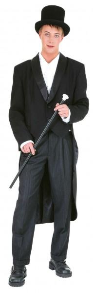 Herren-Showfrack mit Satinkragen - schwarz und weiß - Größe: 48/50 - 60