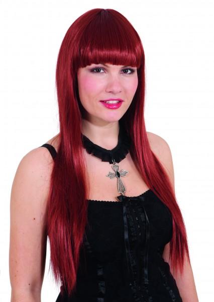 Faschingsperücke Damen: Larissa pink, langes Haar ( kein passendes Foto! )