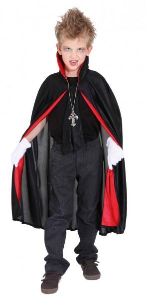 Fasching Halloween Kinder Vampir Umhang mit Stehkragen