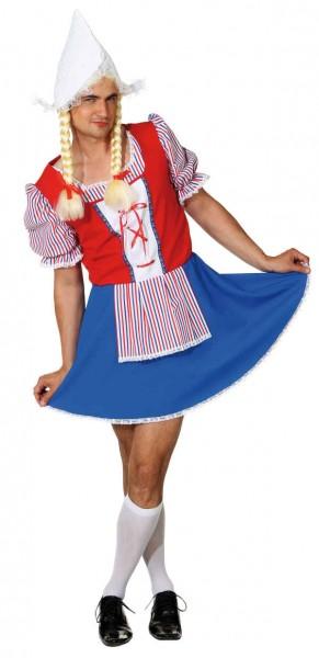 Holländerin Kleid für Herren - Größe: 46/48 - 58/60