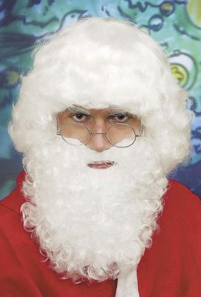 Weihnachtskostüm Nikolaus-Set (Bart und Perücke)