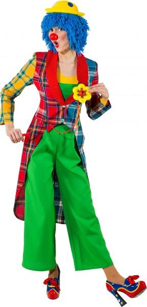 Fasching Kostüm Damen Frack Clown Patchwork