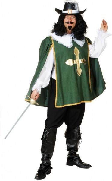 D'Artagnon, grün (Hemd, Überwurf, Hose) - Größe: 50/52 - 58/60