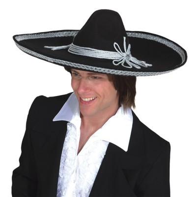 Faschingshut: Sombrero schwarz